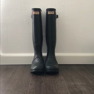Hunter Rain Boots | Matte Black | Size: US 8
